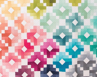 Ombre Gems Quilt Kit - by Quilty Love in Cotton and Steel Pigment Fabrics