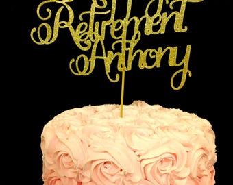 Happy Retirement Cake Topper, Retirement Cake Topper, Happy Retirement, Retirement decorations, Retirement, Happy Retirement decorations