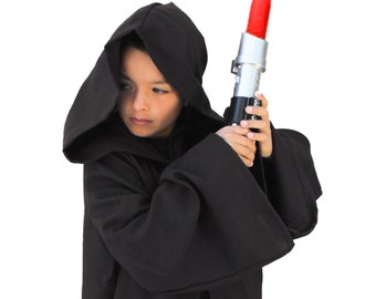Black Sith Lord Jedi Wizard Costume Cloak Boys Child SMALL MEDIUM LARGE
