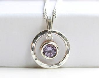 Alexandrite Necklace - Alexandrite Pendant  Silver - June Birthstone - Alexandrite Jewelry Jewellery - June Pendant - June Birthday - A2