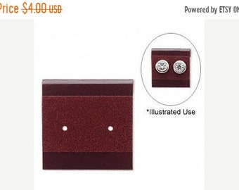 TAX SEASON Stock up 50 Pack Burgundy Velour 1x1 Inch Hanging Plastic Earring Cards