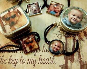 Photo Bracelet Custom Photo Bracelet Personalized Jewelry in Matching Gift Tin for Pet Lovers Kids Moms