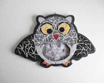 """OWL"" mosaic picture frame"