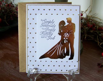 Gold Foil Wedding Greeting Card