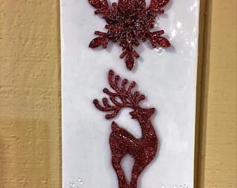 Christmas Decor...Resin Wall Art Panel...or A Christmas Card