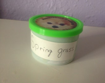 Stress dough -spring grass