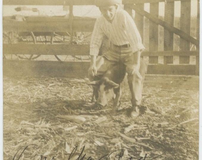 "Vintage Snapshot Photo: ""Life on the farm, 1905"" [86691]"
