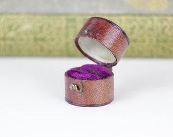 Victorian Ring Box Engagement or Wedding Ring Box Incredible Purple Velvet Interior