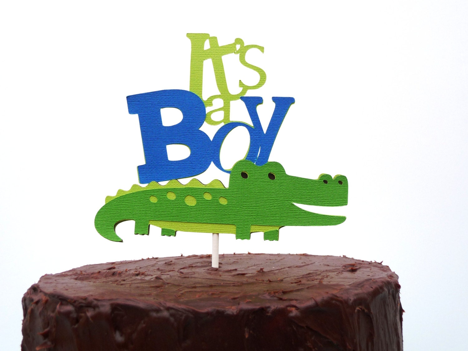 Alligator Cake Topper Its a Boy Alligator Baby Shower Theme