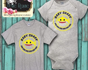 Baby Shark, Toddler Shirt, Baby Shirt, Baby Bear, Shark Family, Baby Shark Doo Doo, Family shirt, Baby T Shirt, Toddler T Shirt