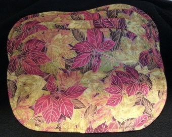 Placemats - Oval, set of 4, Fall print