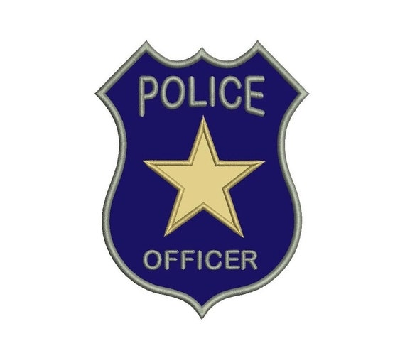 police patch design template - police badge applique machine embroidery digitized design