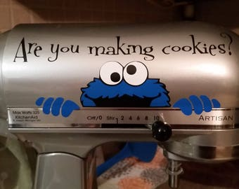 Stand mixer decals. Cookie Monster or Minnie Mouse