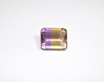 Ametrine, Natural Purple and Yellow Loose Cut Gemstone