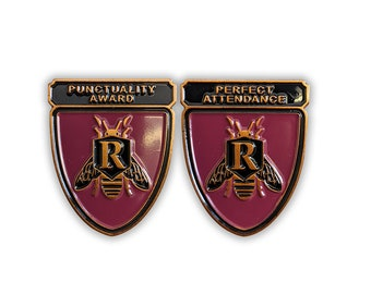 Rushmore inspired Enamel Pins! Punctuality Award & Perfect Attendance, Max Fischer, Bill Murray, Wes Anderson, school award