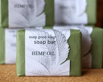 Natural Handmade Hemp oil Soap Bar Handcrafted Soap Artisan Soap Free Shipping