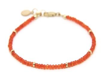 Carnelian gemstone bracelet.