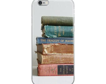 iPhone Case Book Lovers Case Book Photo Classic Novels Old Books