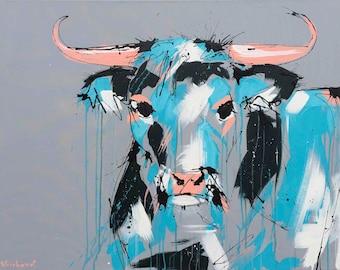 Cow Painting | Art by Aidan Weichard | Original Painting - 120cm x 100cm