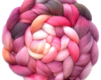 Falkland Roving Handdyed Combed Top - Not Just for Sweethearts 6.1 oz.