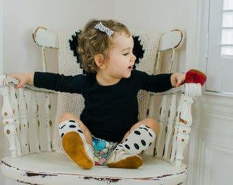 Organic Long Sleeve Girls Tee, Black shirt, Girls Clothing, Baby Clothing, Long Sleeve T shirt, Long Sleeve Kids Apparel & Baby Apparel