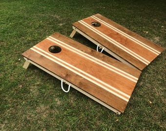 Stained Cornhole boards,  corn hole board, Toys and Games, Outdoor Recreation, Lawn Games, bean bag toss, Cornhole board, cornhole