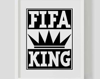 Fifa King Digital Print