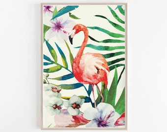Tropical Print,Tropical Wall Poster,Tropical Large Art,Tropical,Tropical Wall Poster,Flamingo Pink Print,Flamingo Poster,Wall Print Flamingo