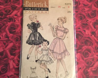 1950's Vintage Butterick Girls Sewing Pattern