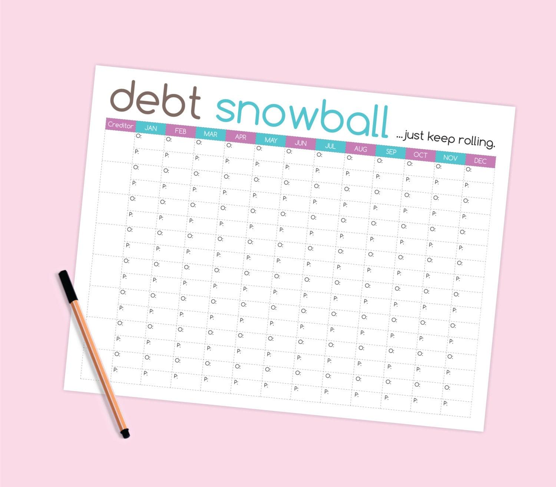 Worksheets Snowball Debt Worksheet debt snowball worksheet budget printable
