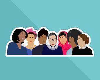 Feminist Girl Gang Sticker- Squad Goals, Feminist Art