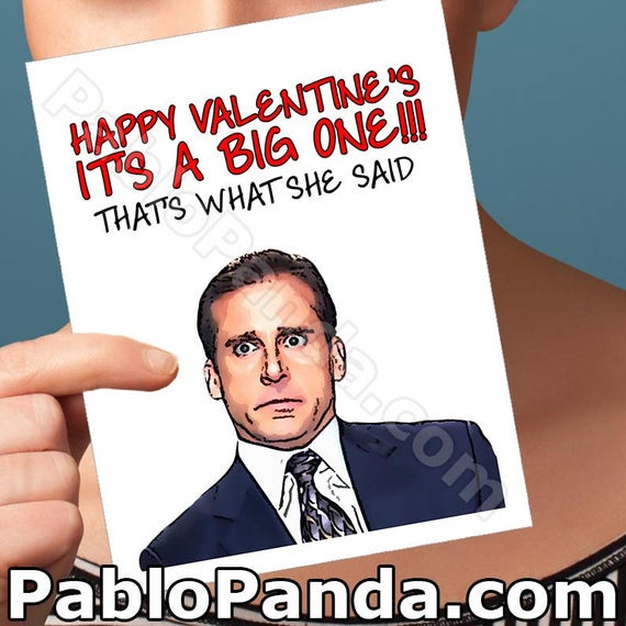 valentines day the office boyfriend gift valentines day gift for him michael scott gift for men sexy valentine card jim and pam card for - The Office Valentines Day Cards