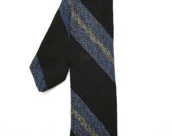 Vintage Black Tweed MOD 1960s Tie