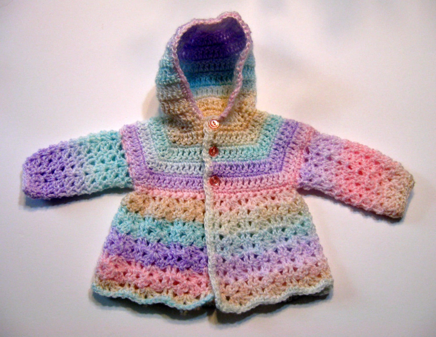 Hood Crochet Pattern, Baby Sweater, Top Down, Hood Seam Only ...