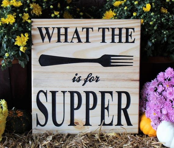 Funny Kitchen Signs: What The Fork Is For Dinner Sign Funny Kitchen Signs Funny