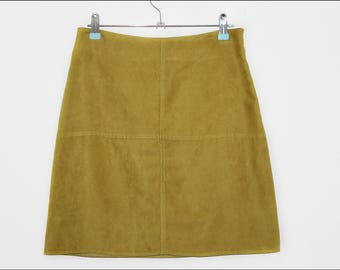 suede 60s style A line skirt