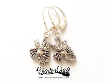 Silver Scorpion Earrings - Scorpion Earrings - Scorpio Earrings - Zodiac Earrings - Astrology Earrings - Scorpion Jewelry - Zodiac Jewelry