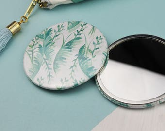 Bright Tropical Pocket Mirror - Compact Mirror - Stocking Stuffer