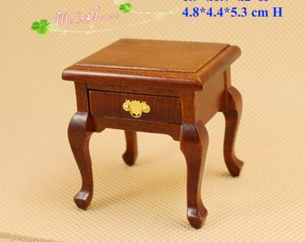 1:12 Scale Dollhouse Miniature End Table Side Stand Night Stand Wood Furniture for Room