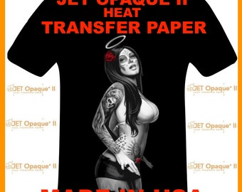 """Neenah Jet Opaque II Inkjet Heat Transfer Paper - Iron On Transfer Paper for Dark Colors 100 Sheets of 8.5 X 11"""" FREE SHIPPING!"""