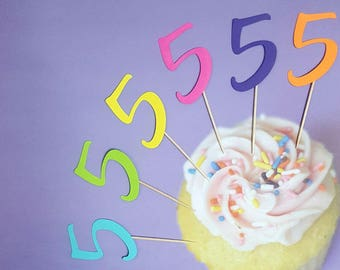 Number Cupcake Toppers: 24