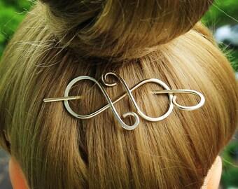 Brass Hair Pin Hair Clip, Metal Hair Pin Hair Stick, Gold Hair Barrette Hair Clamp, Hair Jewelry, Scarf Pin Shawl Pin Sweater Clasp Clip