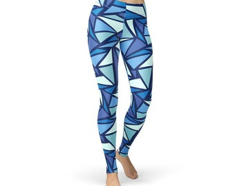Ice Crystal Abstract Leggings