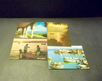 4 Israel Sea of Galilee Post Cards - Printed and purchased in Israel- 1970's
