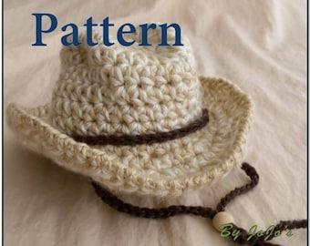PDF Baby Cowboy Hat PATTERN -Baby Cowboy Hat - Fedora Hat - Safari Hat -Instant Download-by JoJosBootique