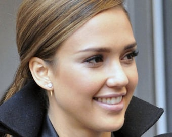 Spike Earring Jackets as Seen On Jessica Alba -  14K Yellow, White, or Rose Gold Spike Back For Your Ear Studs