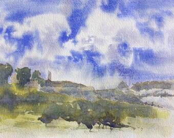Castle Hill on windy day - fine art print