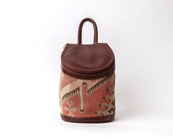 Kilim backpack,carpet Bag,woman kilim bag, Turkish kilim bag, Handmade old Turkish kilim bag, Handmade kilim bag,Handmade carpet bag, bag