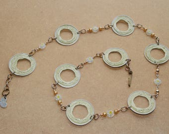 Gold and cream Necklace 1