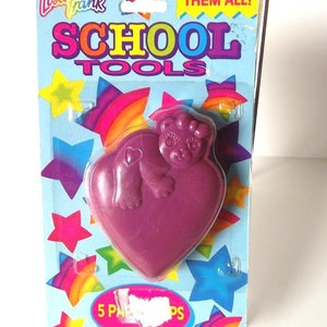 Lisa Frank Teddy Bear on Heart Pencil Sharpener Vintage 90's office school supply NIP